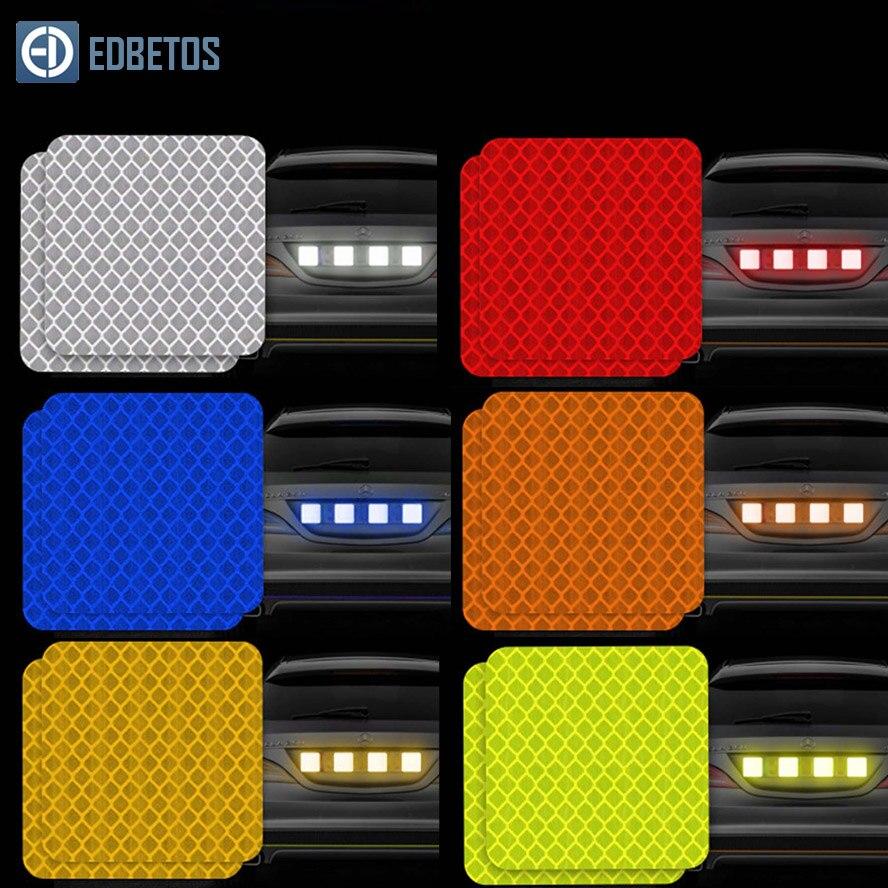 Купить с кэшбэком Car Body Safety Reflective Warning Stickers for Car Door Wheel Eyebrow Rear Bumper Review Mirror Helmet Decal Pegatinas Aksesuar