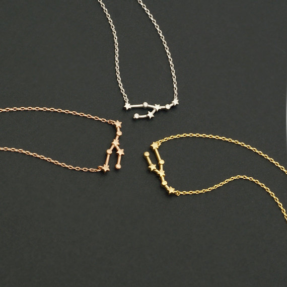Taurus Constellation Necklace: Daisies Simple Necklace Taurus Zodiac Sign Astrology
