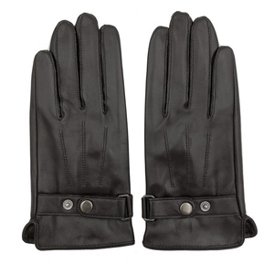 Image 3 - YY8597 Spring/Winter Real Leather Short Gloves For Men Male Thin/Thick Black/Brown Touched Screen Gant Gym Luvas Driving Mittens
