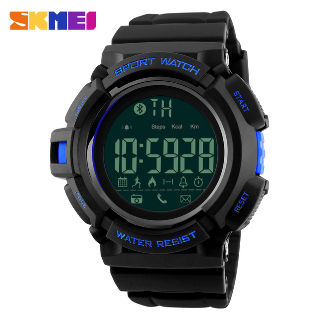 SKMEI Bluetooth Smart Watch Sport Pedometer Remote Camera Call Reminder Calorie Sleeping Monitor Waterproof Smart Watches