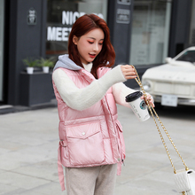 winter jacket women vest slim hooded coat parkas mujer moda invierno Glossy for