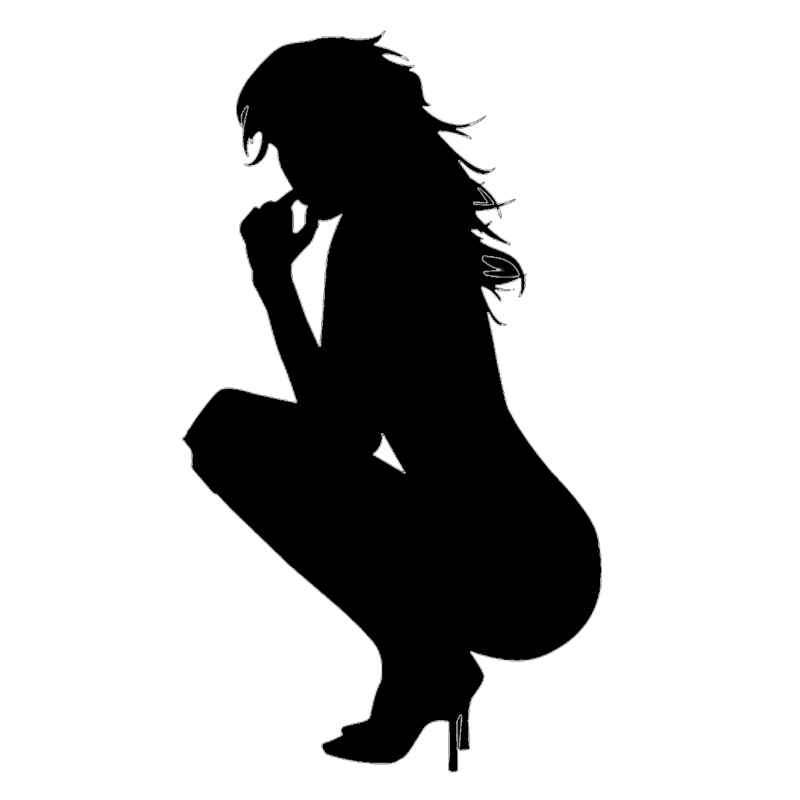 Sexy Girl Nude Lady Squatting Vinyl Decal Sticker Car Bumper Door Truck Window Fuel Tank Cap Laptop Kayak Cars Styling Wall horse riding sticker for car rear windshield truck suv bumper auto door laptop kayak canoe art wall die cut vinyl decal 8 colors
