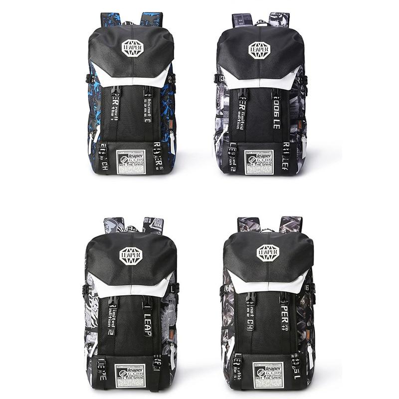 Leaper sac à dos hommes Usb Charge impression Designer sac à dos pour ordinateur portable 15.6 pouces étudiant Oxford sacs d'école pour adolescents étanche - 6