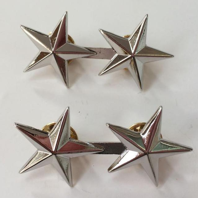 Pair Of Ww2 Us Army Officer 2 Star Major General Rank Badges Pin