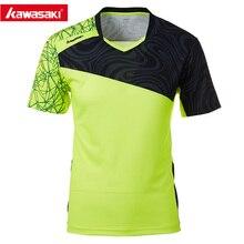 Настоящая мужская футболка Kawasaki с v-образным вырезом и короткими рукавами, футболка для бадминтона и тенниса для мужчин, модная спортивная одежда для спорта на открытом воздухе, ST-T1019