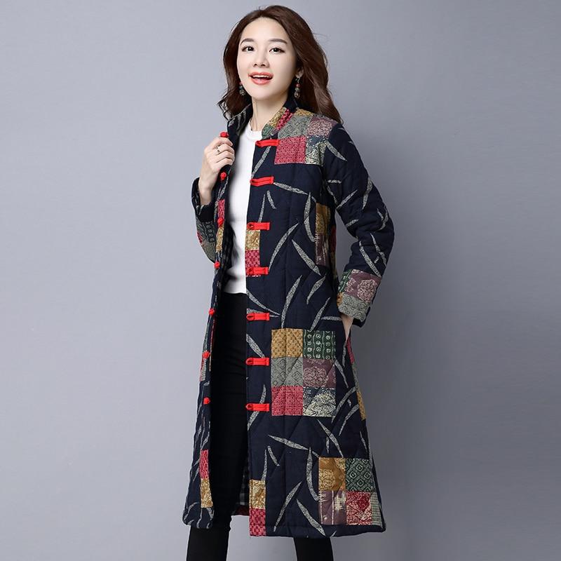 Femelle De Yzh331 Taille Coton Plus La Debout Col Boutique Femmes Impression Lâche Hiver red 2018 Black Mode Vêtements Manteau Nouveau TcZqwOEwf