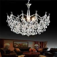 European Modern K9 Crystal Pendant Lights Brief Fashion Bar Cafe Lamp Living Room Lustre Suspension Light