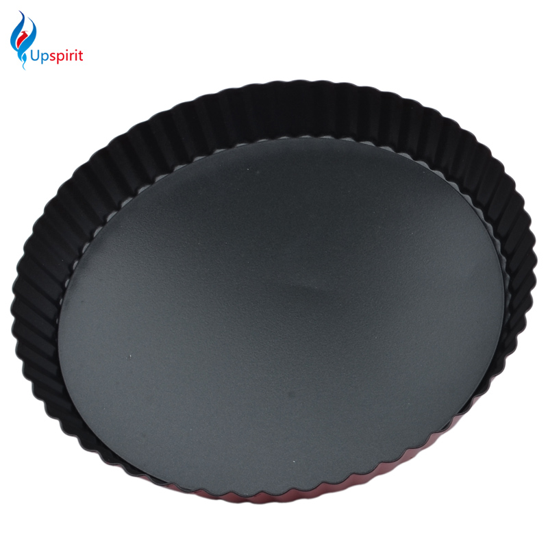 Upspirit 9 Inch Wave Edge Pizza Pan Cake Tray Mould Non-stick Pie Plate Carbon Steel Round Shape Chrysanthemum Style Baking Tool image