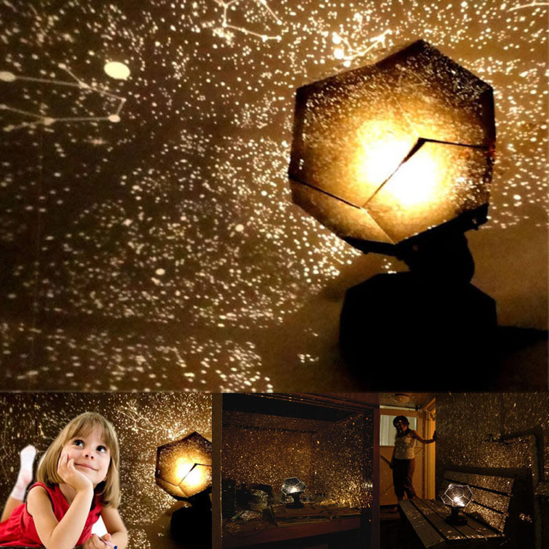 Romantic Stars Projector Starry Sky LED Night Light Projectors Luminaria Moon Table Lighting Planetarium Desk Lamps For Children