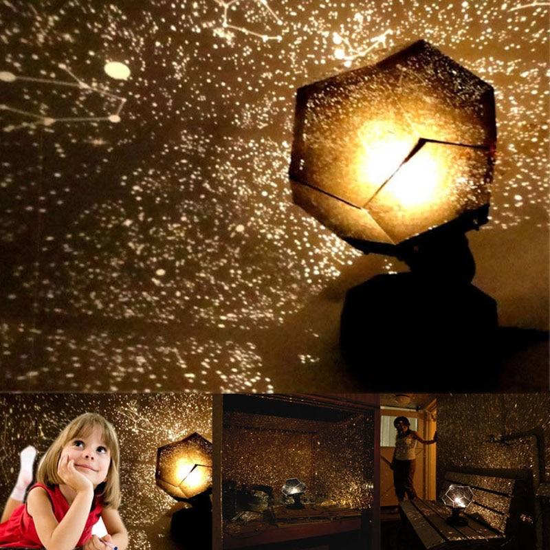 Romantic Stars Projector Starry Sky LED Night Light Projectors Luminaria Moon Table Lighting Planetarium Desk Lamps For Children