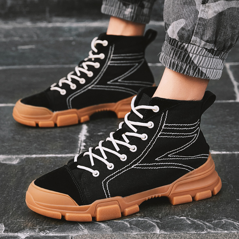 E26 Rue Top Dentelle Bottines Chaussures Up Un Casual High Hommes Oxford Nouveau qaPHnxpwn