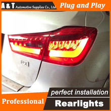 A&T Car Styling for Mitsubishi ASX Taillights New ASX LED Tail Lamp Outlander EX LED Rear Lamp DRL+Brake+Park+Signal led lights