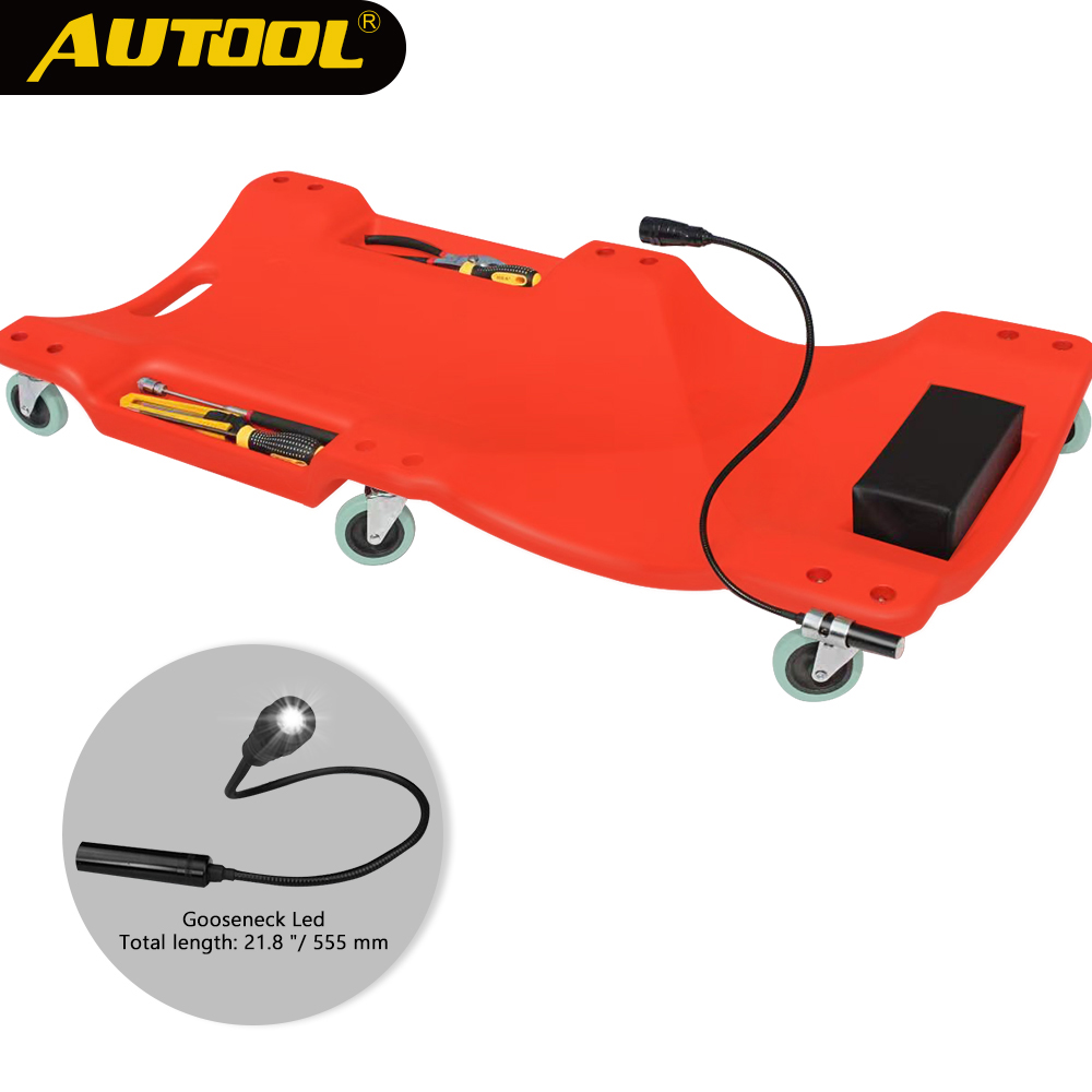 40inch Car Repair Lying Board With LED Light Skateboard Sleeping Board Car Vehicle Service Maintenance Tool