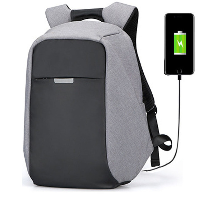 90b99c7d1c76 US $28.17 60% OFF|Anti Theft Backpack USB Charging Men Travel Backpack  Waterproof School Bag Teenage Male Mochila sac a dos Laptop Backpack -in ...