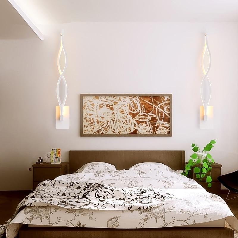 36 69 60 De Reduction Nouveau Design Noir Blanc Mur Led Lumieres Salon Chambre Led Interieur Applique Murale Moderne Eclairage A La Maison Mural