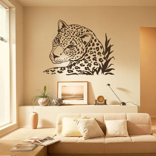 Wandtattoo Leopard Tiger Wildkatze Afrikanische Tiere Safari Vinyl ...