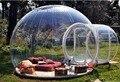 Barraca de acampamento ao ar livre bolha claro tenda gramado inflável tenda bolha inflável com ventilador