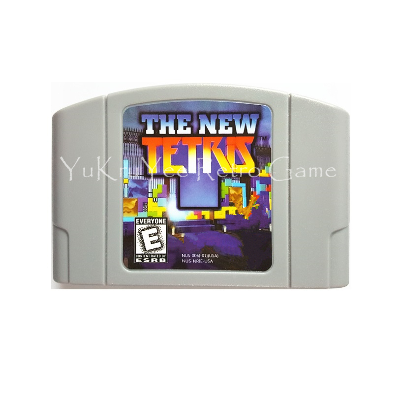 The New Tetris Video Game Accessories Memory Cartridge Card for 64 Bit Console US NTSC Version N38