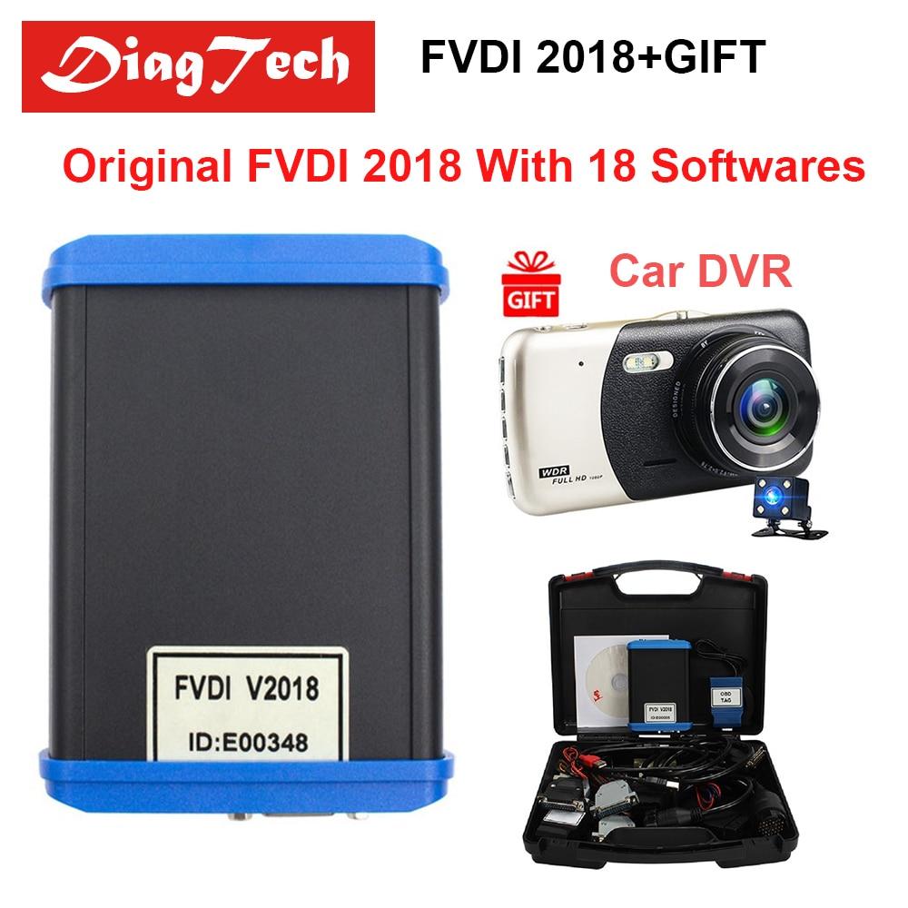 Original FVDI 2018 ABRITES Kommandant Diagnose Werkzeug Volle Version (18 Software) keine Begrenzte Abdeckungen FVDI 2014 2015 2016 + Auto DVR