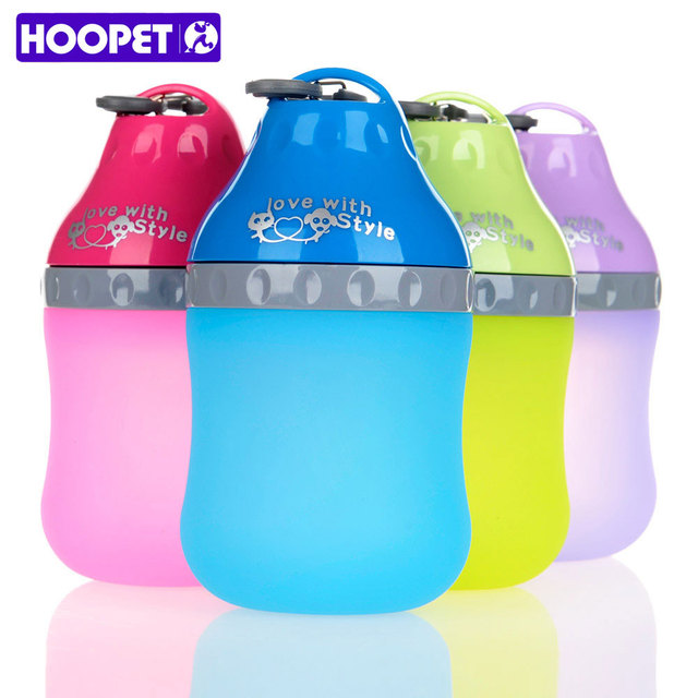 HOOPET Hot Sale Drinking Fountains Water Drop Lightweight And Portable  Silicone Material Teddy Cat Is Drinking