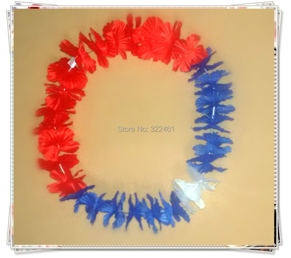 10pcslot Free Shipping Laos Flag Color Hawaii Necklace Festive