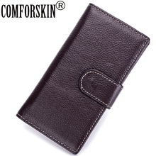 COMFORSKIN High-end Market Genuine Leather Business Card Credit Holder 2018 New Arrivals Soft Style Multi-function Cases
