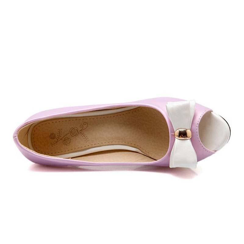 Mujeres Elegante Boda Zapatos Tamaño Tacones Calzado púrpura Verde Taoffen Color Mujer Cariño Bombas Finos 43 Mixto Bowknot 33 amarillo De Fiesta wtq6nSqa