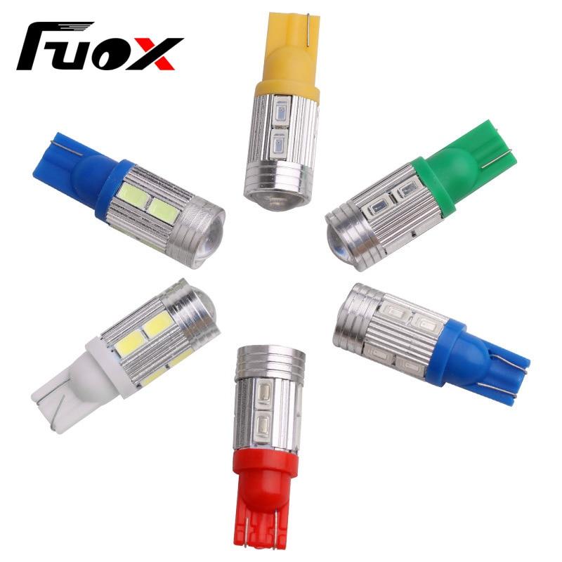 1PCS T10 194 W5W 10 SMD 5730 LED Light High Power Car Auto LED Bulb Clearance Lights Brake Turn Signal Lamp