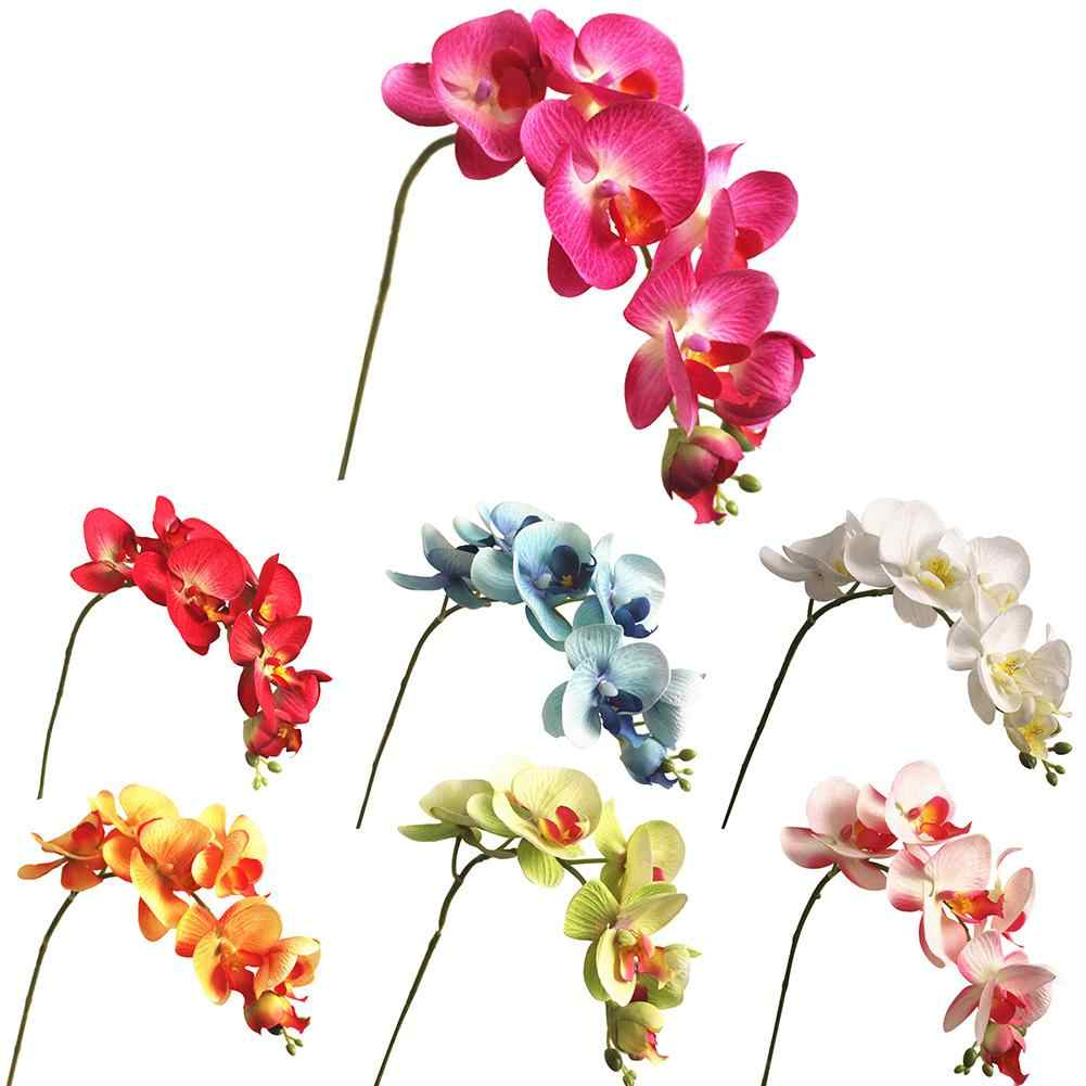 35# Realistic 1Pc Artificial Butterfly Orchid 7 Heads Fake Flower DIY Wedding Party Decor Artificial Flower
