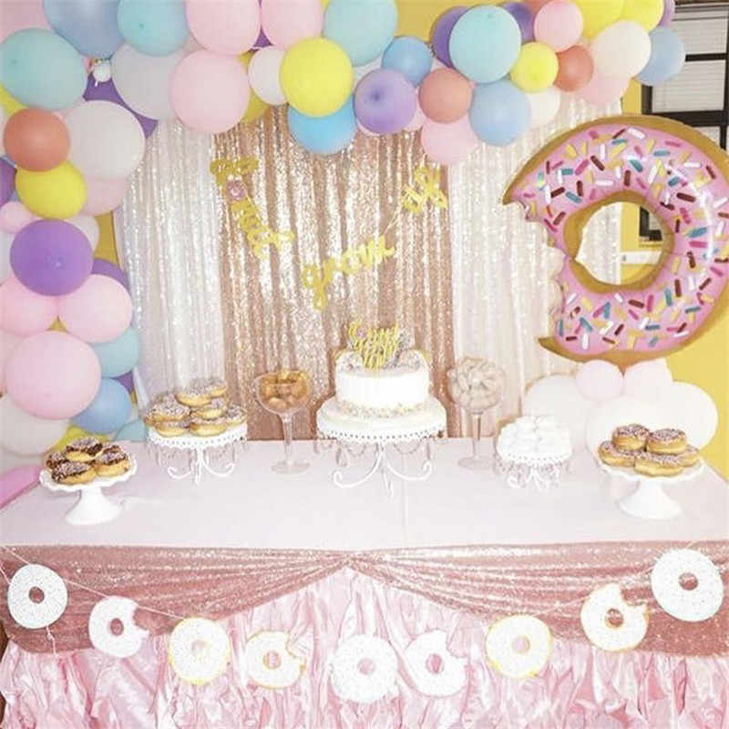 Omilut 16inch Donut Grow Up Balloons Gold Silver Letter Foil Party Decoration Baby