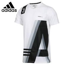 Новое поступление Adidas Neo лейбл M избранного, топы, для детей возрастом 1 Для мужчин, футболки с коротким рукавом спортивный костюм