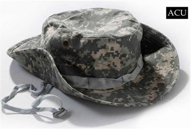 adaa84c7b96 Outdoor Sports Fishing Hat Camouflage Bucket Hat Fisherman Camo Jungle Bush  Hats Boonie UV Protection Wide Brim Ripstop Sun Cap-in Hiking Caps from  Sports ...