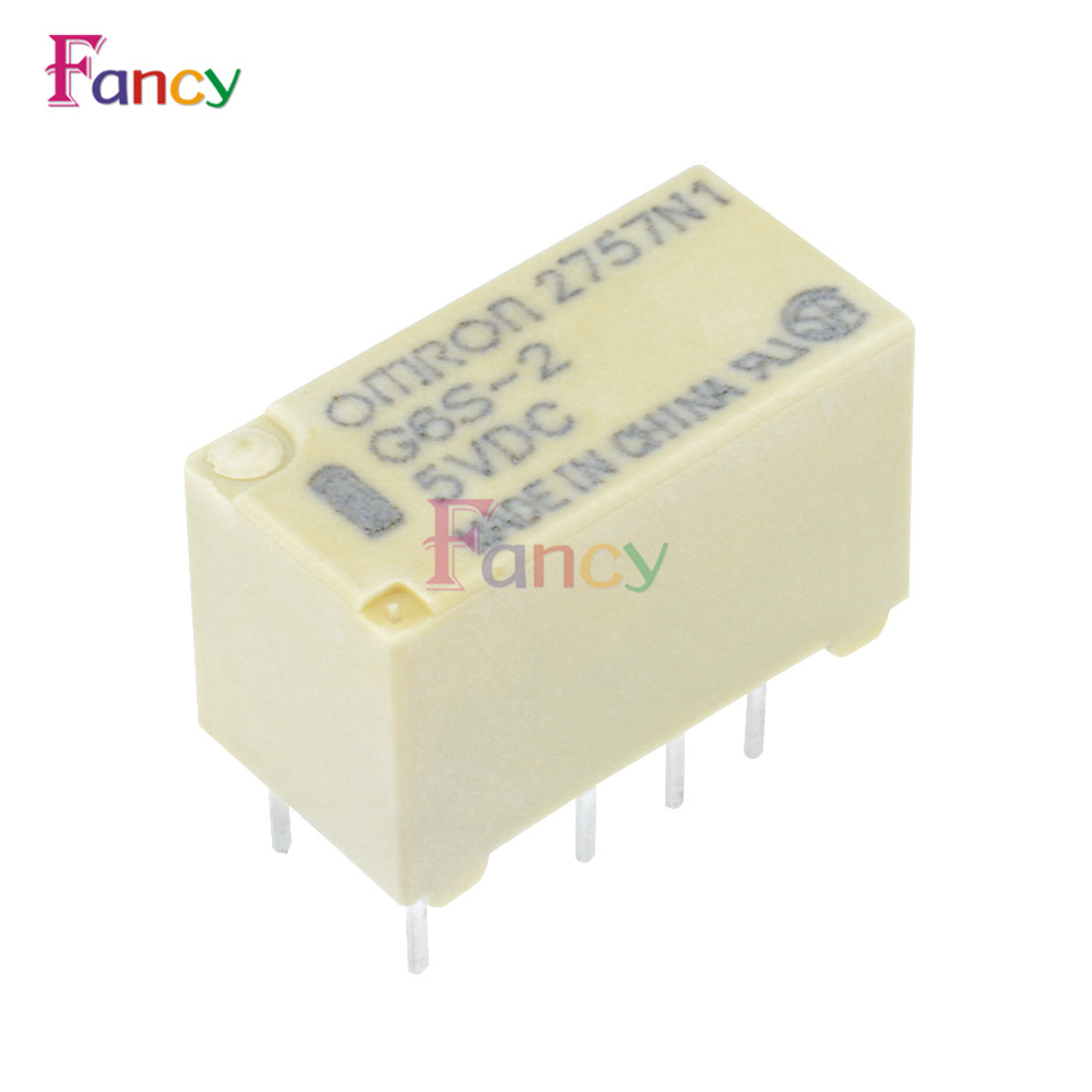 5V Relay G6S-2-5VDC 2A 250VAC/DC220V 8PIN for Omron Relay 10pcs tx2sa 5v relay telecom dpdt 2a 5v