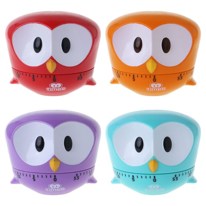 Cute Owl Kitchen Timer 60 Minutes Cooking Mechanical Home ...