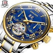 Top Brand BINKADA Tourbillon Multifunción Reloj de la Marca de Lujo Para Hombre Reloj Mecánico Automático 5 Manos Fecha Reloj Hombre
