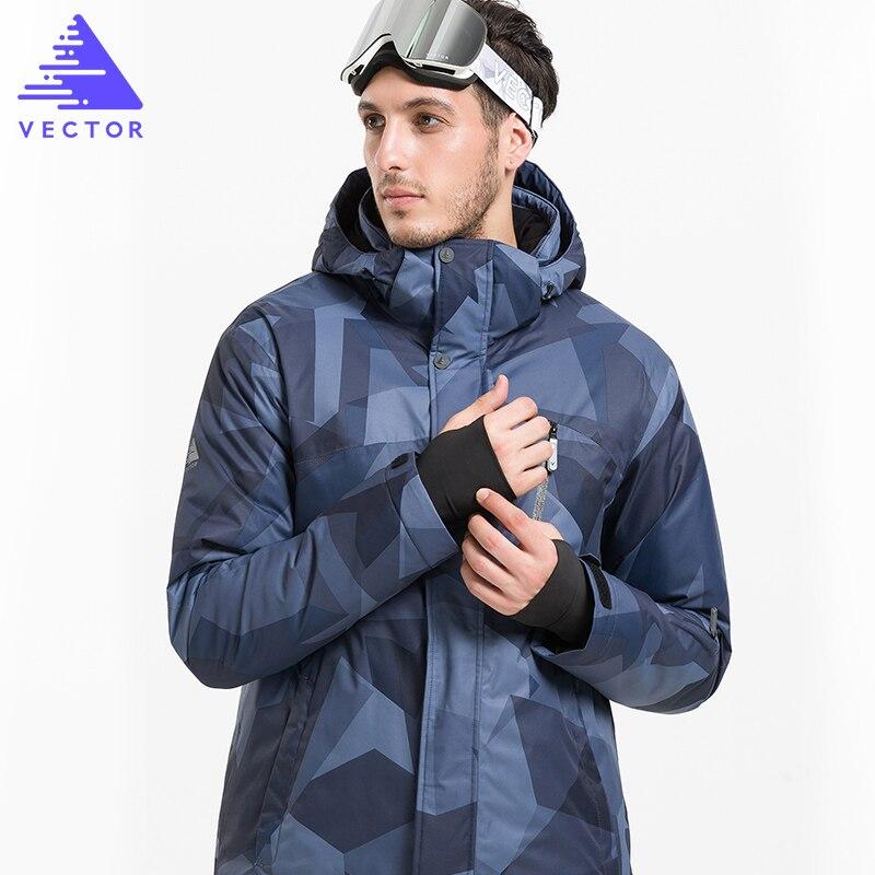 Vestes de Ski d'hiver de marque VECTOR hommes vestes de Snowboard imperméables thermiques en plein air escalade vêtements de Ski de neige HXF70002 - 2