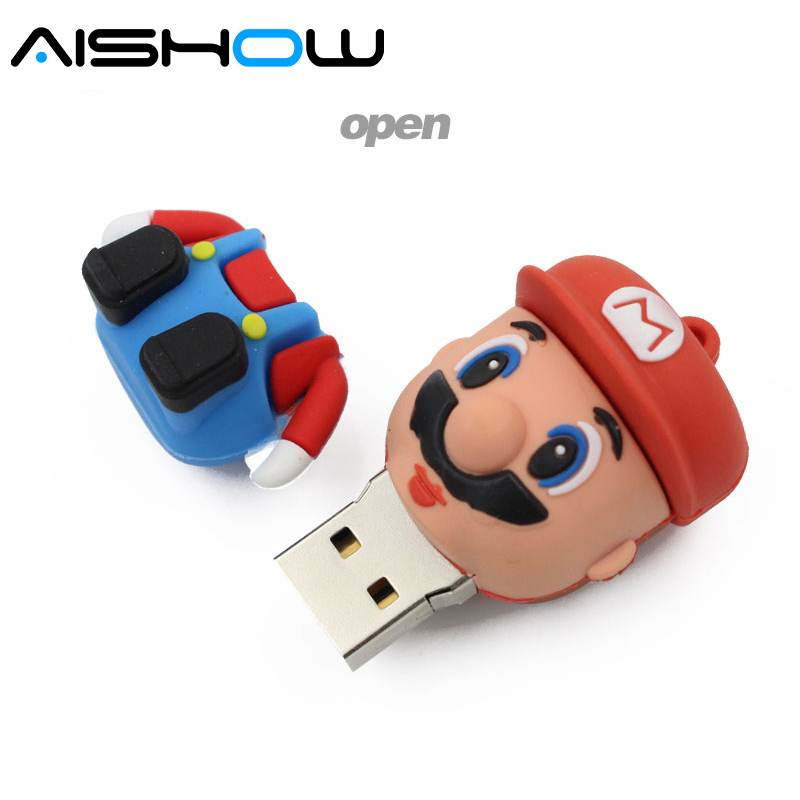 Super Mario USB ֆլեշ սկավառակ նվերներ գրիչ - Արտաքին պահեստավորման սարքեր - Լուսանկար 4