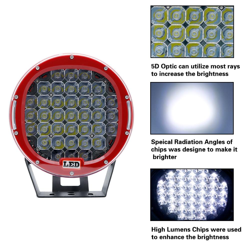 2PCS 9 Inch Led Work Light 12V 24V Spot Flood Offroad Light Bar Indicators For SUV Car Truck Bus Boat Tractor Working Lights (15)