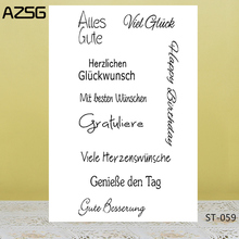 AZSG Sincere Blessings/Wishes Clear Stamps/Seals For DIY Scrapbooking/Card Making/Album Decorative Silicone Stamp Crafts