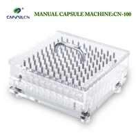 Relleno de cápsulas de polvo medicinal de 100 orificios manual de alta calidad para cápsulas separadas de tamaño 000 #-5 #