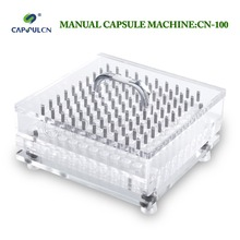 High quality manual medicinal powder capsule filler for size 000#-5# separated capsules 240 holes cn 240 size 1 capsule filler capsule filling machine with perfect precision suitable for separated capsule