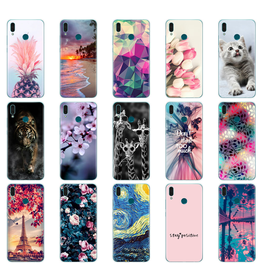 <font><b>Case</b></font> for <font><b>Huawei</b></font> <font><b>y9</b></font> <font><b>2019</b></font> <font><b>case</b></font> cover Silicone TPU Soft Phone coque on For <font><b>Huawei</b></font> <font><b>Y9</b></font> <font><b>2019</b></font> Y 9 copa etui bumper <font><b>360</b></font> protective bags image