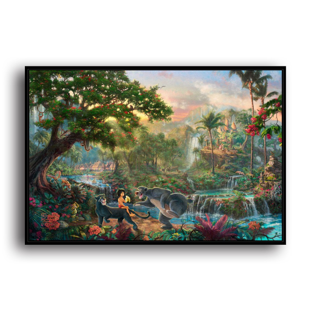 H1213 Thomas Kinkade The Jungle Book, HD Canvas Print Home decoration Living Room bedroom Wall pictures Art painting