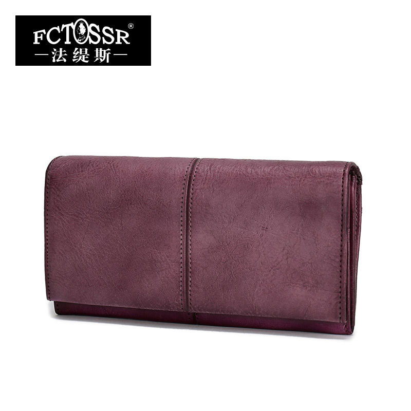 2018 Handmade Women Wallet Genuine Leather Ladies Casual Vintage Clutch Purse Cell Phone Coin Card Holder Purse 2017 hottest women short design gradient color coin purse cute ladies wallet bags pu leather handbags card holder clutch purse