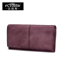 2018 Handmade Women Wallet Genuine Leather Ladies Casual Vintage Clutch Purse Cell Phone Coin Card Holder Purse