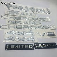 Soarhorse 1 Set Silver For Jeep Grand Cherokee 4x4 V8 Limited Alphabet Emblem Logo Badge Decal