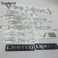 Soarhorse 1 set Zilver Voor Jeep Grand Cherokee 4x4 V8 Limited Alfabet Embleem Logo Badge Decal