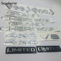 Soarhorse 1 Set Silver For Jeep Grand Cherokee 4x4 V8 Limited Alphabet Emblem Logo Badge Decal