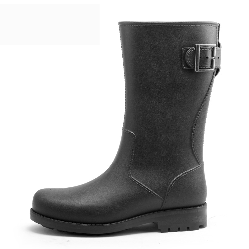 2016 new black rubberl rain boots galoshes for men winter fishing boots fashion water rubber shoes waterproof shoes