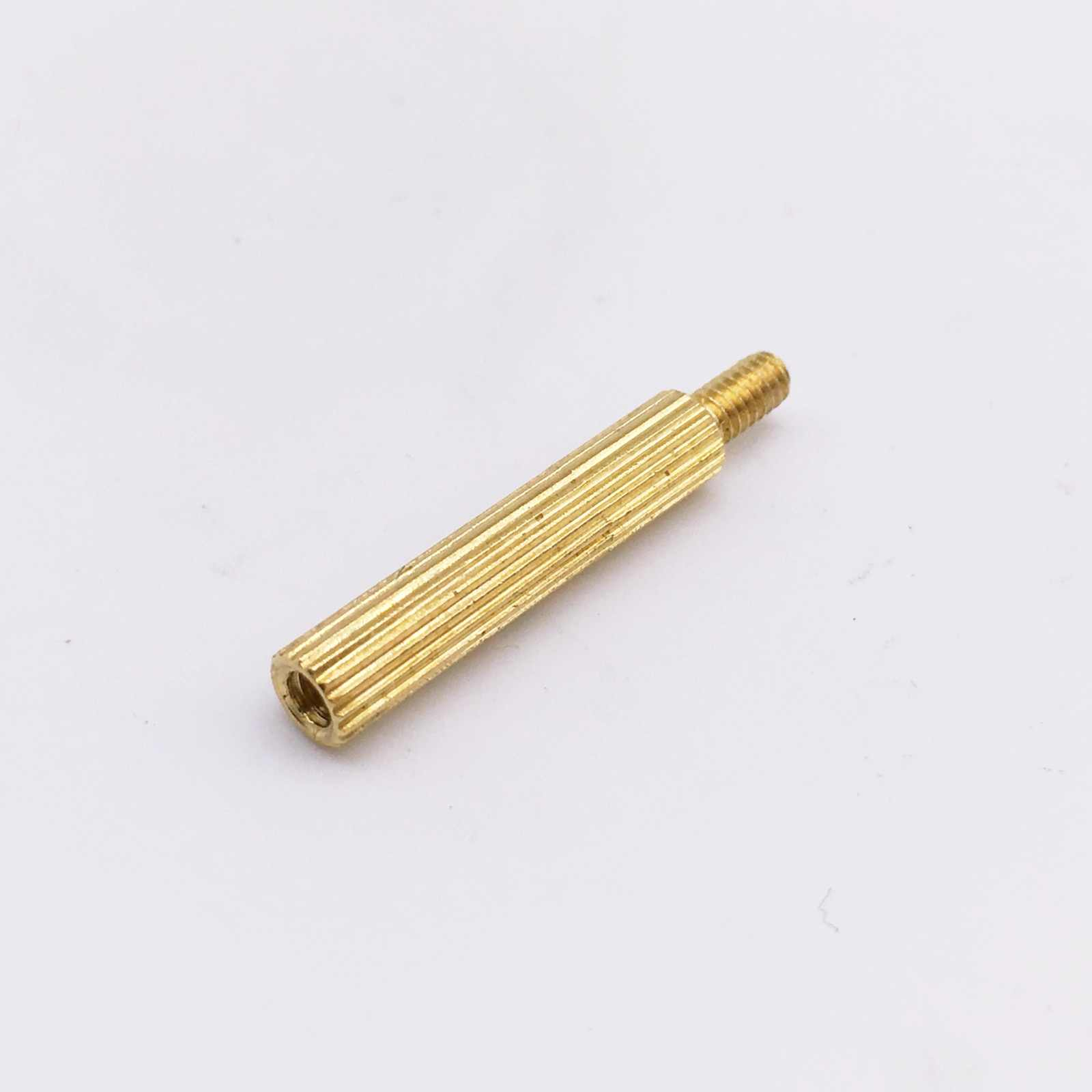 M2x11+4 Male to Female Thread Brass Pillars Cylindrical Standoff Spacer